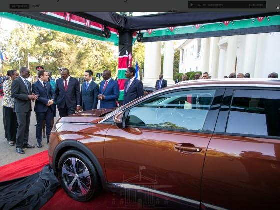 13.03.2019 : Macron eröffnet die neue Fabrik für den 3008 in Kenia